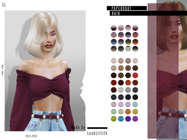 Paperboat Hair by LeahLillith at TSR image 3623 Sims 4 Updates