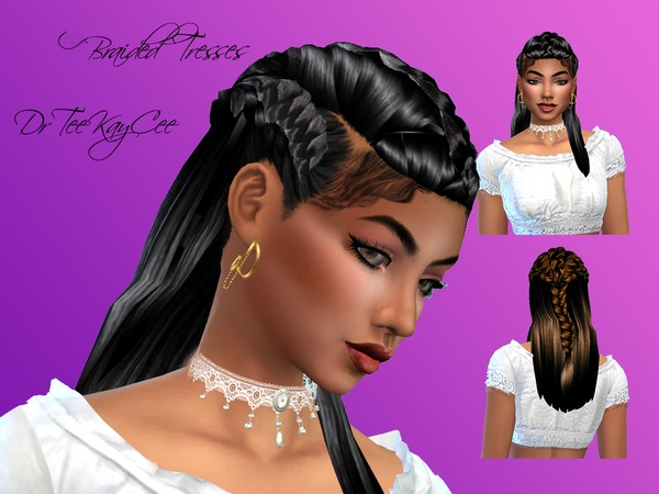 Sims 4 Braided Tresses by drteekaycee at TSR