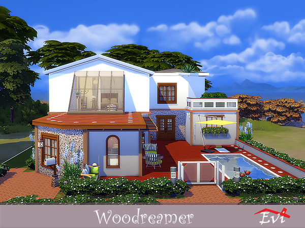 Woodreamer house by evi at TSR image 3716 Sims 4 Updates