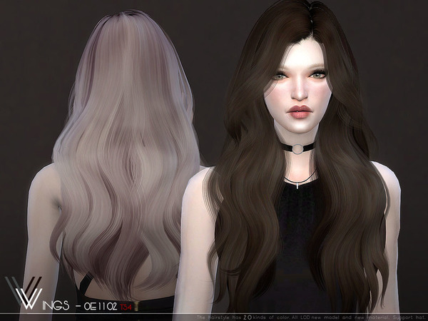 WINGS OE1102 hair by wingssims at TSR image 372 Sims 4 Updates