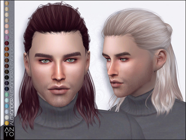 Sims 4 Alex Hairstyle Pack by Anto at TSR