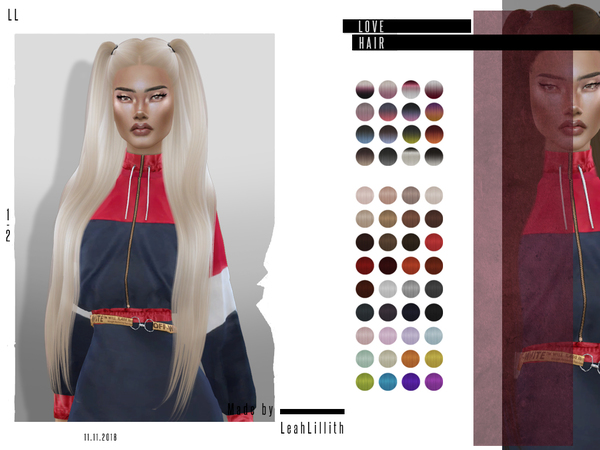 Love Hair by Leah Lillith at TSR image 378 Sims 4 Updates