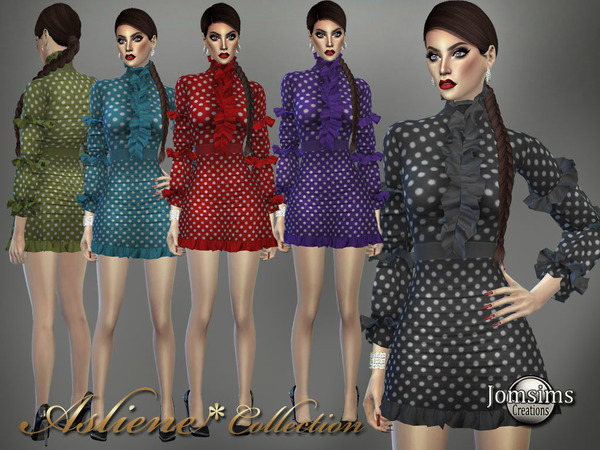 Asliene dress 6 by jomsims at TSR image 385 Sims 4 Updates