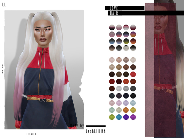Love Hair by Leah Lillith at TSR image 389 Sims 4 Updates