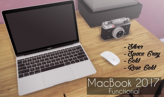 Macbook 2017 Functional at Descargas Sims image 391 670x398 Sims 4 Updates