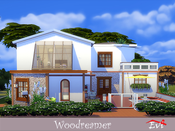 Woodreamer house by evi at TSR image 3917 Sims 4 Updates