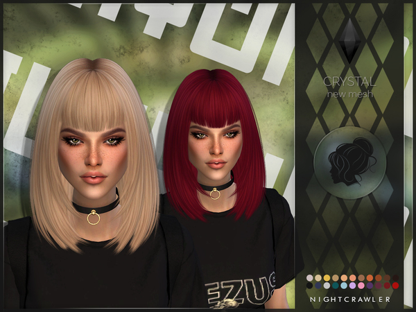 Crystal hair by Nightcrawler at TSR image 3924 Sims 4 Updates