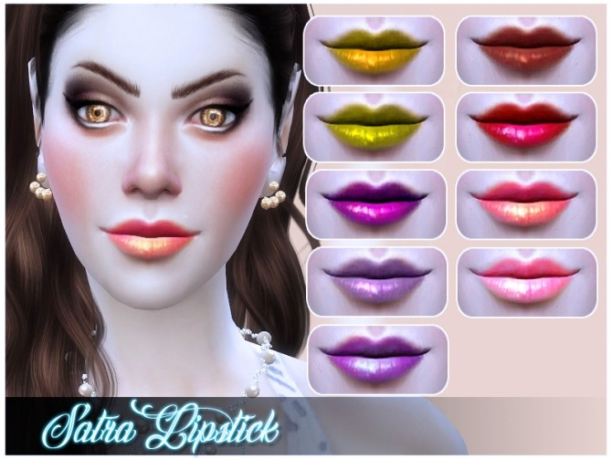 Sims 4 Satra Lipstick by Nalae at Mod The Sims