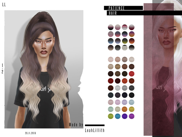 Patience Hair by LeahLillith at TSR image 4016 Sims 4 Updates