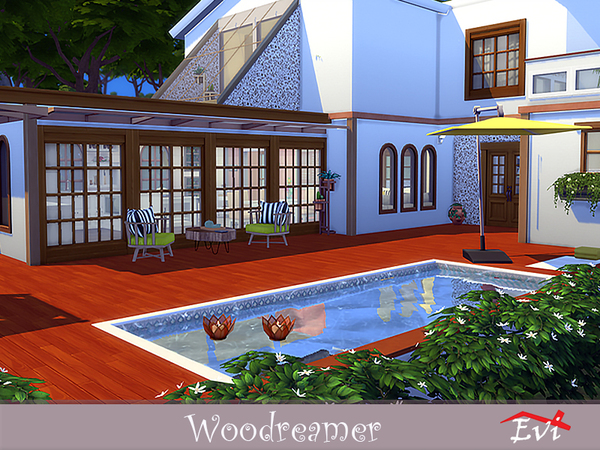 Woodreamer house by evi at TSR image 4017 Sims 4 Updates