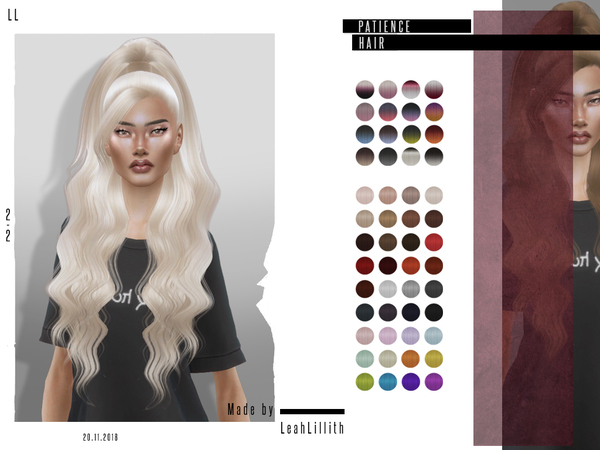 Patience Hair by LeahLillith at TSR image 4120 Sims 4 Updates