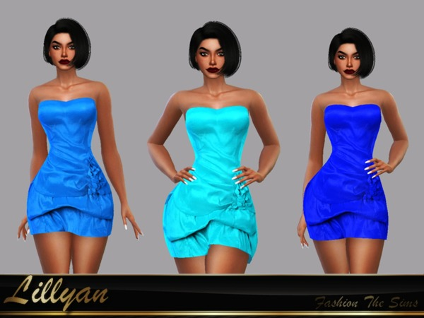 Sims 4 Dress Mercedes by LYLLYAN at TSR