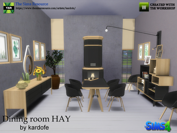 Sims 4 Dining room HAY by kardofe at TSR