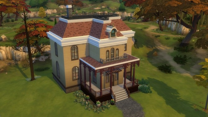 Sims 4 Bates Mansion + Motel by kinglauti at Mod The Sims