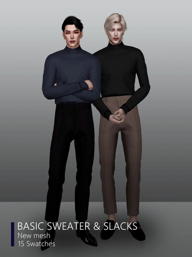 Basic sweater & slacks at Rona Sims image 4224 670x894 Sims 4 Updates