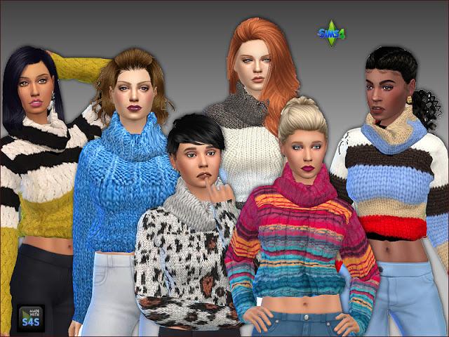 Sims 4 Sweaters by Mabra at Arte Della Vita