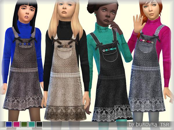Sims 4 Sundress Tweed by bukovka at TSR