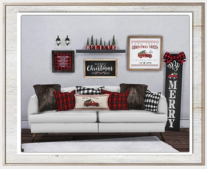 Sims 4 Cozy Cabin Christmas Set at Simthing New