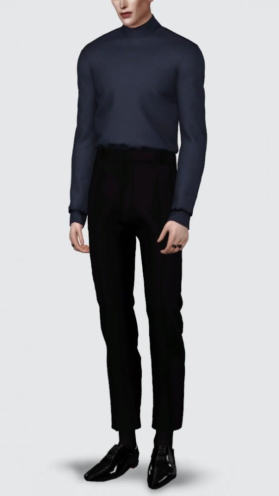 Basic sweater & slacks at Rona Sims image 4323 563x1000 Sims 4 Updates