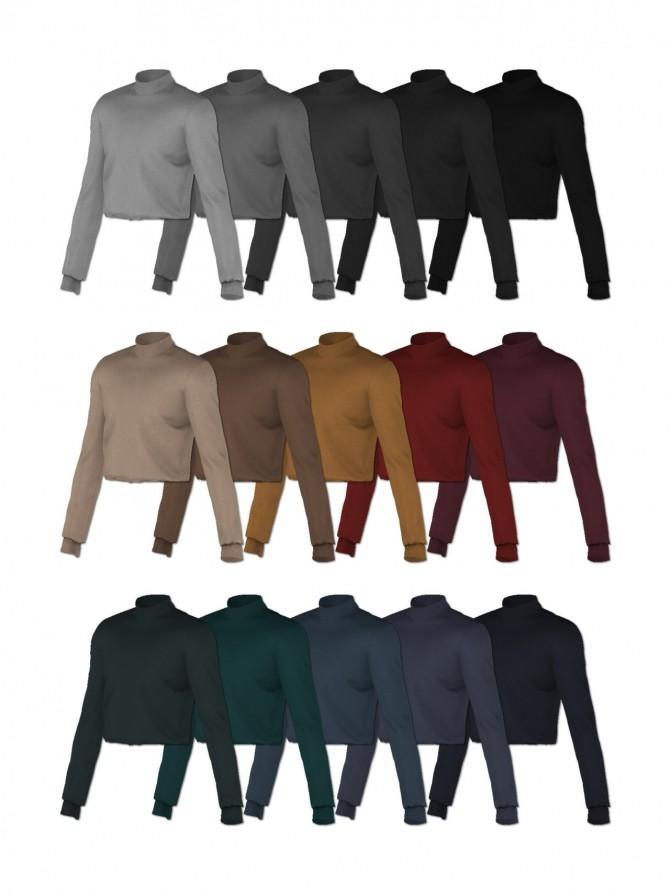 Basic sweater & slacks at Rona Sims image 4523 670x894 Sims 4 Updates