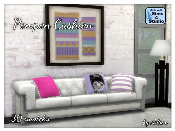 Sims 4 Pompon Cushions by Oldbox at All 4 Sims