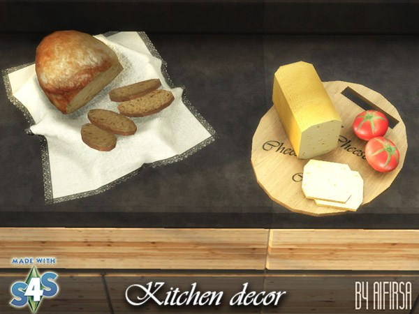 Sims 4 Kitchen decor at Aifirsa