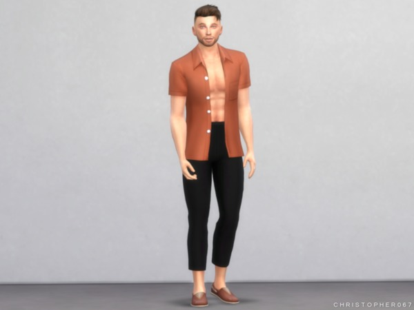 Sims 4 Bandit Pants by Christopher067 at TSR