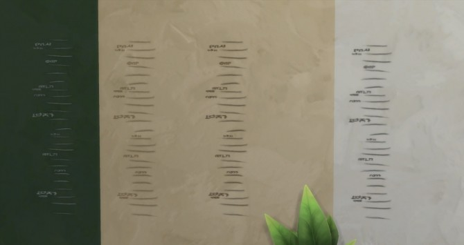 Wall carved growth chart Decal by Sateisa at Mod The Sims image 4720 670x355 Sims 4 Updates
