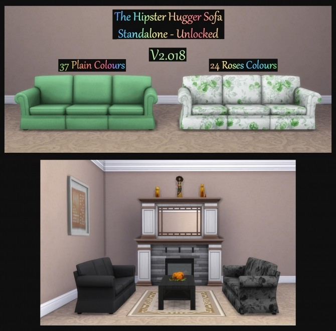 Hipster Hugger Sofa Standalone Unlocked by Simmiller at Mod The Sims image 473 670x661 Sims 4 Updates
