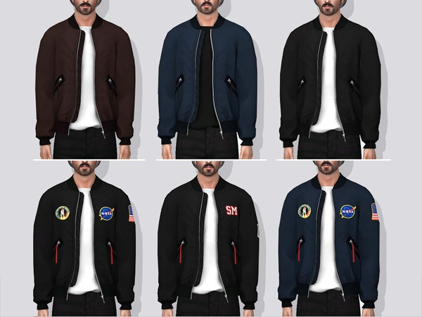 Sims 4 Delson Bomber Jacket by Darte77 at TSR