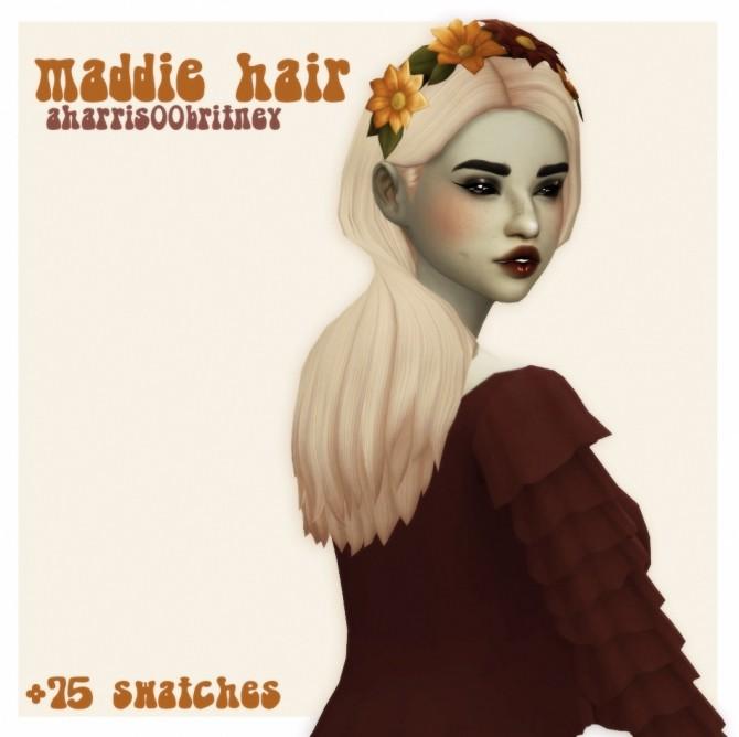 Sims 4 Aharris00britney Maddie hair recolour at cowplant pizza