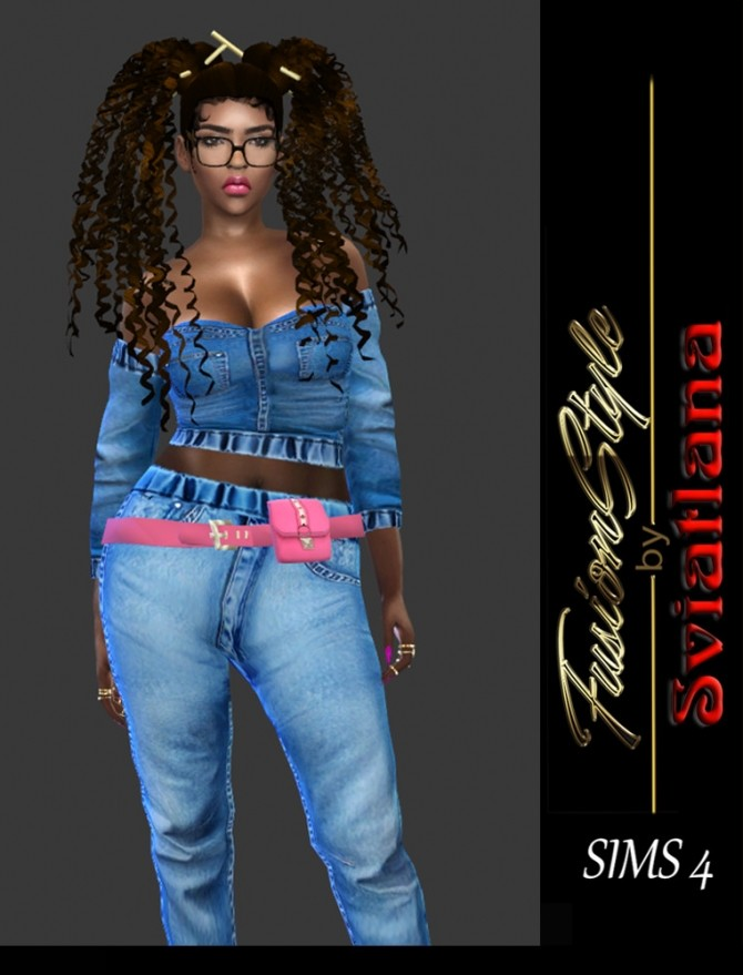 Sims 4 Bag on belt at FusionStyle by Sviatlana