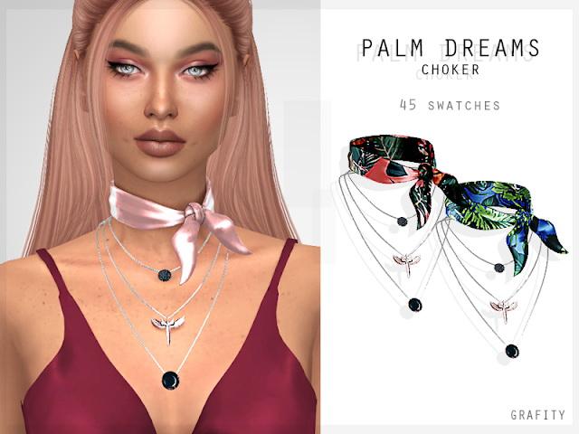 Sims 4 PALM DREAMS CHOKER at Grafity cc