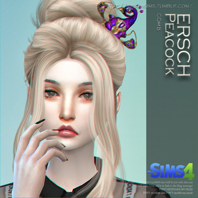 Sims 4 Peacock Comb at ErSch Sims