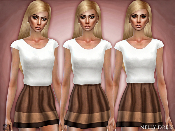Nelly Dress by Black Lily at TSR image 5106 Sims 4 Updates
