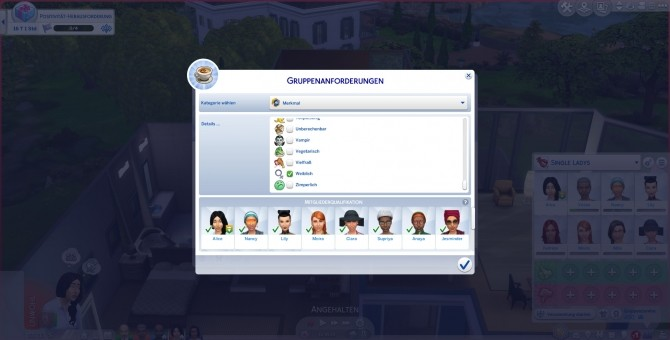 Sims 4 More Club Members & Gender Requirements by Havem at Mod The Sims
