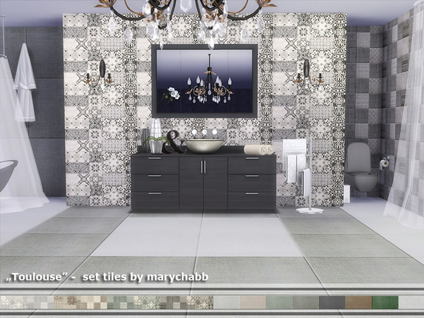 Toulouse tiles set by marychabb at TSR image 528 Sims 4 Updates