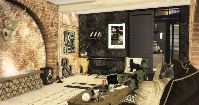 The Man Cave by RubyRed at Ruby's Home Design image 530 670x355 Sims 4 Updates