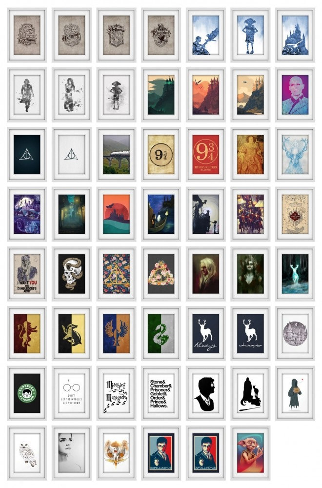 Sims 4 Harry Potter Art Prints at SimPlistic