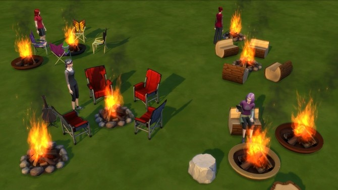 Campfire   No Fire by DemonOfSarila at Mod The Sims image 535 670x377 Sims 4 Updates