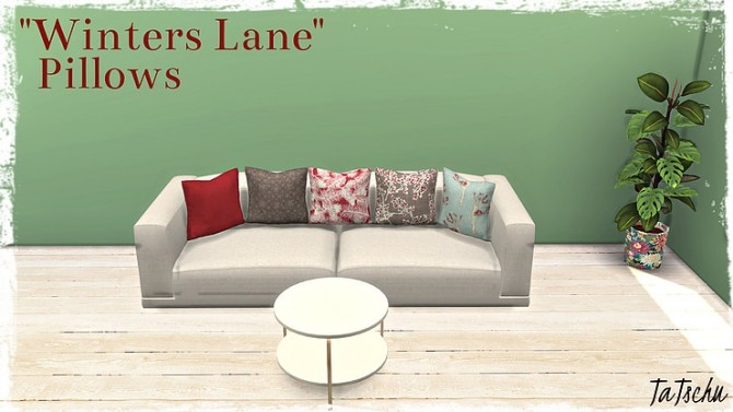 Pillows Winters Lane recolor by TaTschu at Blooming Rosy image 5421 670x377 Sims 4 Updates