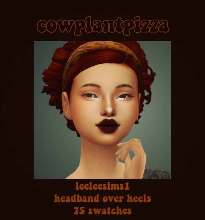 Sims 4 Leeleesims1 headband over heels hair recolours at cowplant pizza
