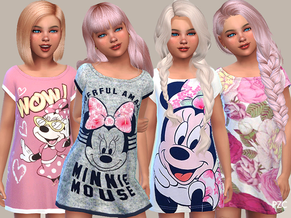 Girls Nightgowns Collection 09 by Pinkzombiecupcakes at TSR image 5510 Sims 4 Updates