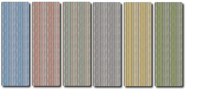 Old painted siding wood Wall by TaTschu at Blooming Rosy image 5513 670x302 Sims 4 Updates