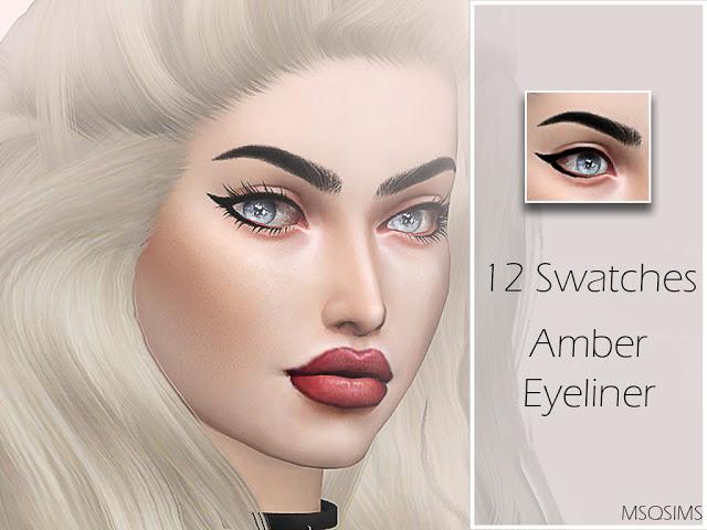 Sims 4 Amber Eyeliner at MSQ Sims