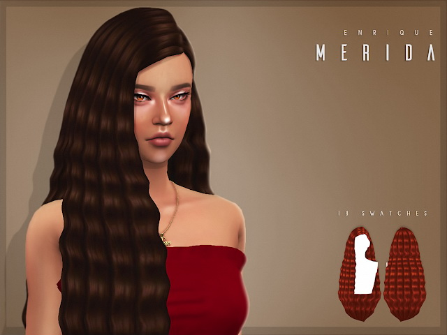 Sims 4 Merida Hairstyle at Enriques4