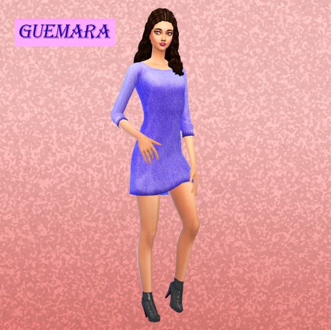 Basic winter dress at Guemara image 5520 670x669 Sims 4 Updates