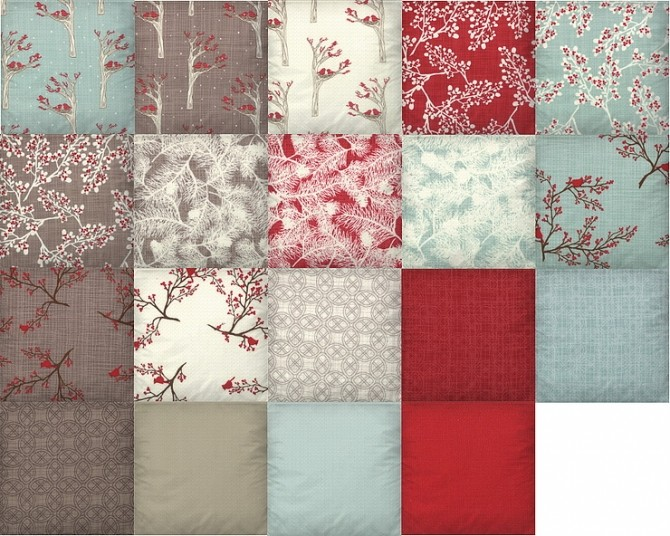 Pillows Winters Lane recolor by TaTschu at Blooming Rosy image 5523 670x536 Sims 4 Updates