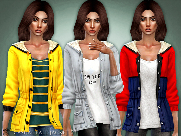 Casual Fall Jacket 03 by Black Lily at TSR image 5610 Sims 4 Updates