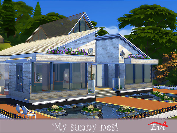 Sims 4 My sunny Nest by evi at TSR